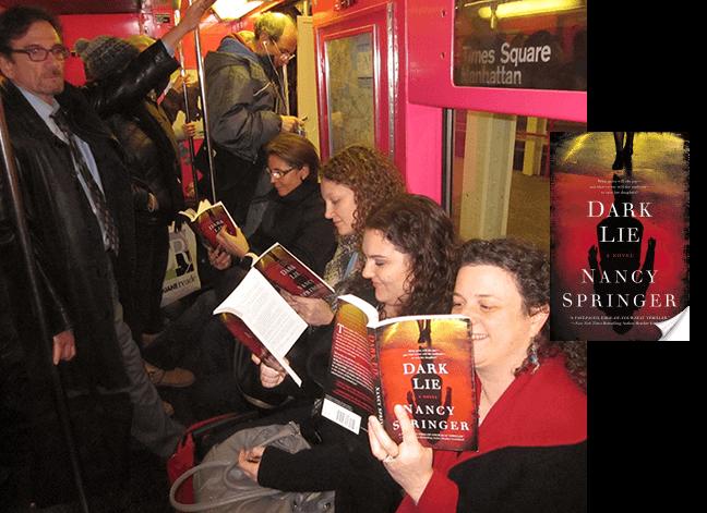 reading Nancy Springer books on subway
